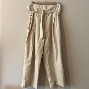 H&M high waisted cropped khaki pants